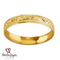Argolla Matrimonial Amelie Joyas Oro Sólido 10k 4mm Ancho.