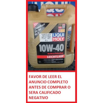 Aceite Sintético Liqui Moly Leichtlauf 10w-40