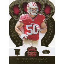 2014 Crown Royale Gold Die Cut Chris Borland Rc 49ers /99