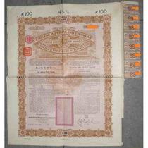 Bono Chino - Imperial Government - H S B C, Gold, £100, 1898