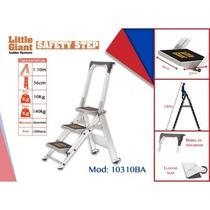 Escalera De Aluminio De 3 Peldaños Con Barra, Mod. 10310ba
