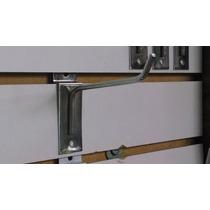 Ganchos Blister Para Panel Ranurado Cromados De 10cm