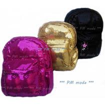 Mochila De Lentejuela Fashion Colores Moda Asiatica T-median