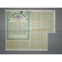 Bono República Mexicana - Deuda Exterior, 4% Oro, £20, 1910.