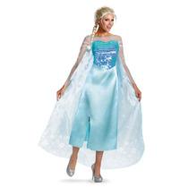 Disfraz Elsa Adulto Mujer Disney Frozen Talla L/xl Grande