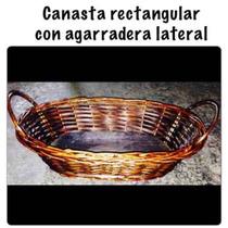 Canasta De Mimbre Con Agarraderas Laterales