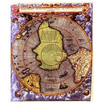 Lienzo Tela Mapa Hemisferio Polo Sur 1593 62 X 50 Cm Antiguo