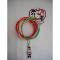 Seis Pulseras Hello Kitty 40 Aniversario, Nuevo