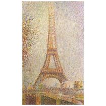 Lienzo Tela Torre Eiffel Georges Seurat Francia 85 X 50 Cm