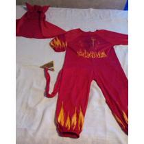 Disfraz De Diablo Para Niño Talla 6, Usado