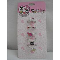 Set Anillos 40 Aniversario Hello Kitty! Importados