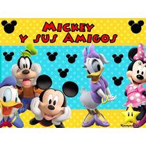 Kit Imprimible Mickey Y Sus Amigos, Invitaciones Y Cajitas