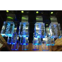 Usb Cristal Promocionales Con Grabado Laser Publicitarias