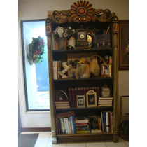 Librero Antiguo Labrado-precioso