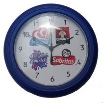 Reloj De Pared Publicitario 23 Cm Tokio Mica Plastico Yokadi