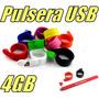 Pulsera Memoria Usb De 4gb Modelo Slap On Llave Usb