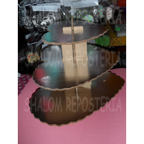 *base Metalizada Corazon Cupcakes San Valentin Fondant*