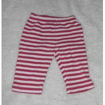 Old Navy! Pantalón Rayas Color Vino Y Hueso Talla 3-6 Meses