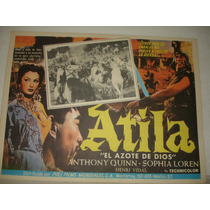 Anthony Quinn, Atila, Cartel De Cine