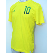 Playera Adidas Bazuca Casual De Algodón Mundial Brasil 2014
