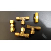 Tee 1/4 Od X 1/4 Od X 1/4 Od En Bronce Para Tubing