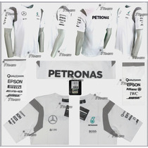 Playera 2016 Mercedes Amg Petronas F1 Blanca Lewis Hamilton