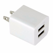 Cargador Dual De Pared Doble Usb 1 Y 2.1 Amperes Carga Rapid