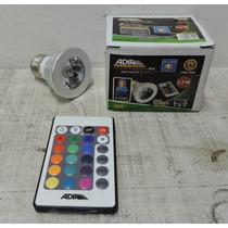 Focos Led Rgb 16 Colores 3w Con Control Remoto Adir E27