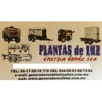 Renta Generadores De Luz Y Plantas De Luz
