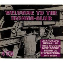 Cd Original Welcome To The Techno Club 4cd Drome Mania Techn