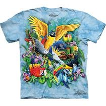 Playera 4d - Unisex Infantiles - 3508 Birds Of The Tropics.