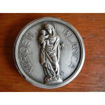 1969 Medalla Virgen Blanca !era Comunión Plata/cobre/zinc