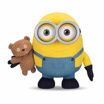 Minions Bob Con Oso Teddy Push Sonido Blakhelmet E