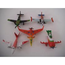 Lote 5 Aviones Chupacabra Y Otros Disney