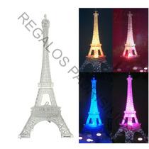 Torre Eiffel Luz Led Centro De Mesa Recuerdo 15 Años, Boda