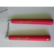 Chacos De Practica Hule Espuma Color Rojo Cadena De Metal