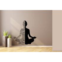Vinilo Decorativo Yoga Silueta Frases