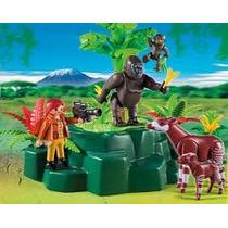 Playmobil 5415 Gorilas Y Okapis Zoologico Safari Retromex