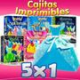 Pack Cajitas Imprimibles, Recuerditos Princesas Disney Hadas