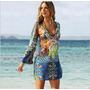 Vestido Playa Para Traje De Baño Estampado
