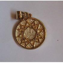 Estrella De 12 Puntas Dije Amuleto Proteccion En Oro De 14 K