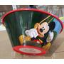 Fiesta Mickey Mouse Plato Tazon Plastico Con Popote Dulcero