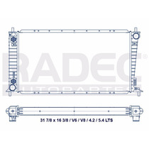 Radiador Ford F-150 97-98 C/adp 5/8 V8 Automatico
