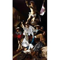 Lienzo Tela La Resurrección Arte Sacro Caravaggio 50 X 90 Cm