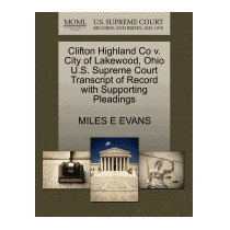 Clifton Highland Co V. City Of Lakewood, Ohio, Miles E Evans