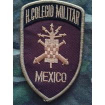 Parche Bordado Heróico Colegio Militar México Vino/oro/negro