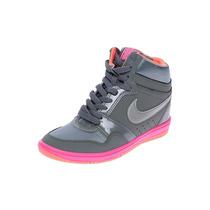 Tenis Botas Nike Force Sky High Tacon Interno Num 5.5 Y 6 Mx