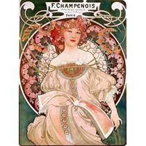 Lienzo Tela Art Deco Mucha Anuncio Publicitario 1896 69 X 50