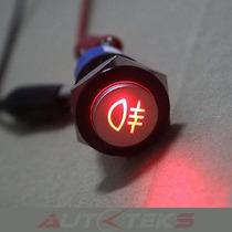 Switch Botón Led P/ Faros Luces Niebla 12v 19mm On/off