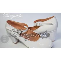 Zapatos Para Danza Folklórica Dama Profesional Espiga 7cm